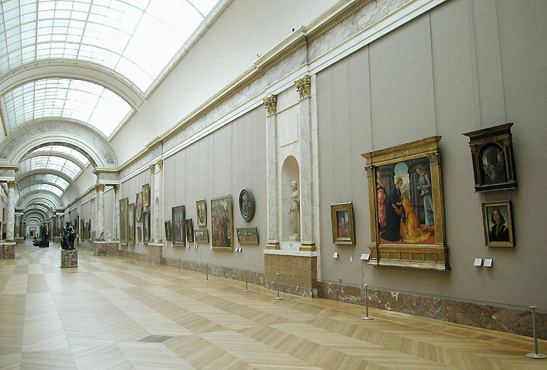 Louvre denon 1er tage for Louvre interieur