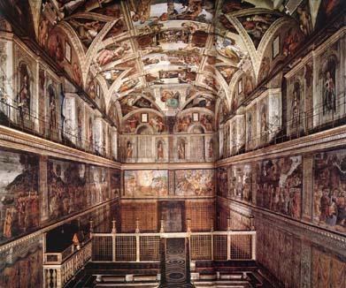 Chapelle sixtine - Fresque du plafond de la chapelle sixtine ...