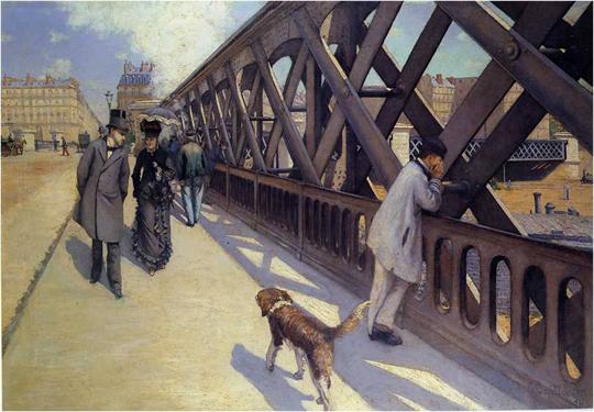 Le Pont De L Europe De Gustave Caillebotte
