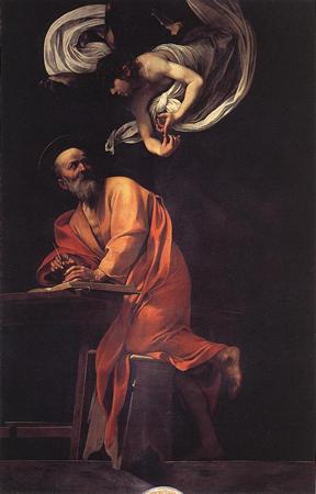 Saint Matthieu et l'Ange du Caravage