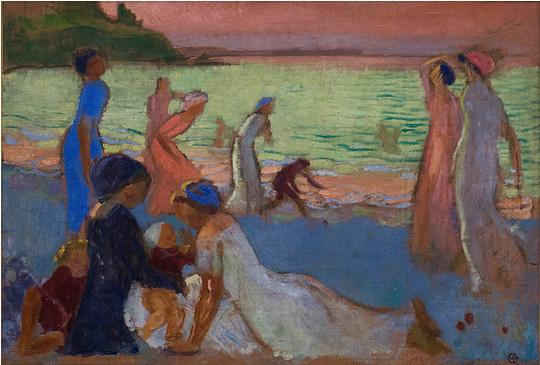 Soir de septembre, la plage de Trestrignel Maurice Denis, 1911