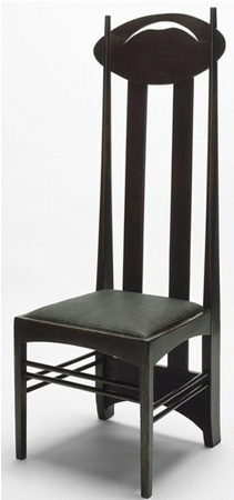 chaise haut dossier de charles rennie mackintosh. Black Bedroom Furniture Sets. Home Design Ideas