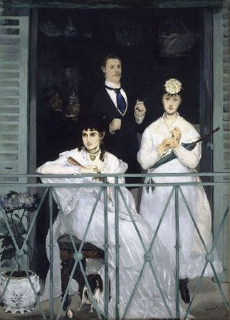 Le balcon de edouard manet for Devant le miroir manet