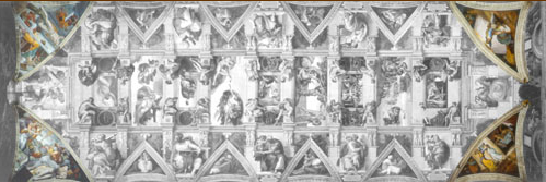 Pendentifs du plafond de la chapelle sixtine de michel ange - Michel ange le plafond de la chapelle sixtine ...