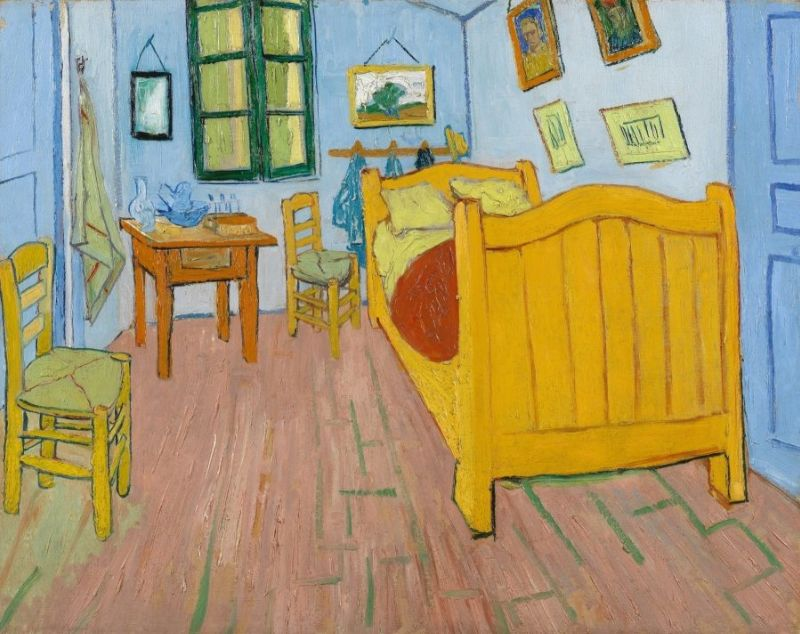 chambre de vincent arles de vincent van gogh. Black Bedroom Furniture Sets. Home Design Ideas