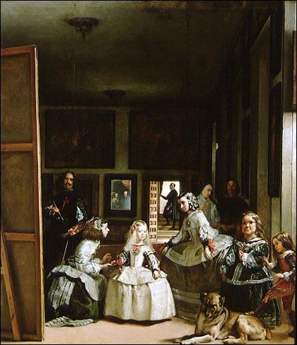 Le miroir dans la peinture Menines