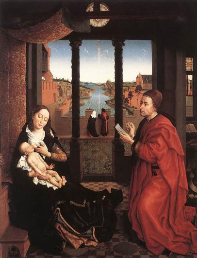 saint luc dessinant la vierge de rogier van der weyden. Black Bedroom Furniture Sets. Home Design Ideas